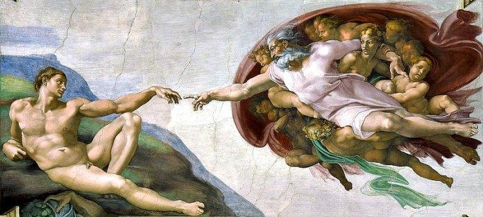 La Creación de Adán, fresco de la Capilla Sixtina obra de Miguel Ángel, Ciudad del Vaticano. (Dominio público)