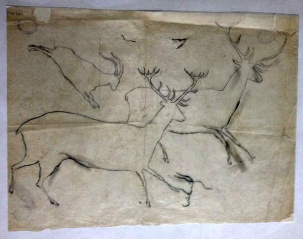 Uno de los más de 2.000 calcos que Cabré dibujó a lo largo de su vida como arqueólogo. (Fotografía: Heraldo de Aragón)