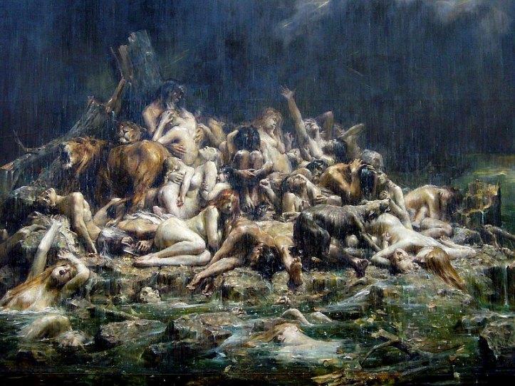 'El Diluvio', óleo de León Comerre (1850-1916). Museo de Bellas Artes de Nantes. (Public Domain)
