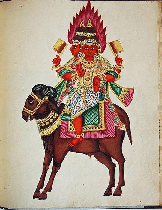 Agni, dios del fuego. (Public Domain)