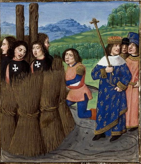 Templarios quemados en la hoguera. (Public Domain)