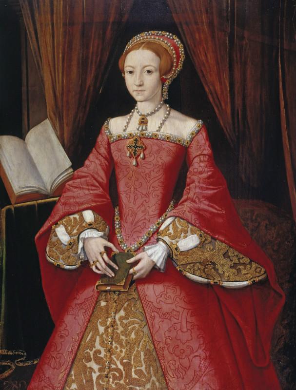 María, pese a sus notables diferencias con su hermana, la protestante Isabel, respetó su vida alejándola de la corte. La princesa Isabel Tudor, futura Isabel I de Inglaterra, óleo de William Scrots, (c. 1546) (Public Domain)