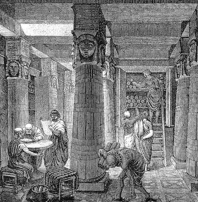 'La Gran Biblioteca de Alejandría.' (Public Domain)