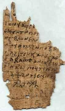 Hechizo mágico escrito en copto sobre un papiro. (reshafim.org.il)