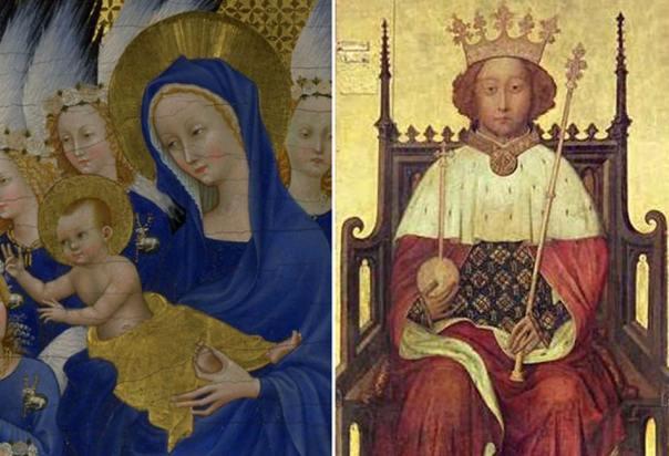 [izquierda] Eduardo de Angulema y Juana de Kent (Public Domain) [derecha] Ricardo de Burdeos (Public Domain)