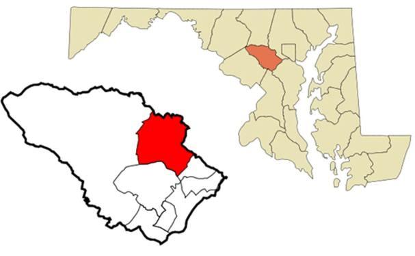 Localización geográfica de Ellicott City, Maryland (CC BY-SA 3.0)
