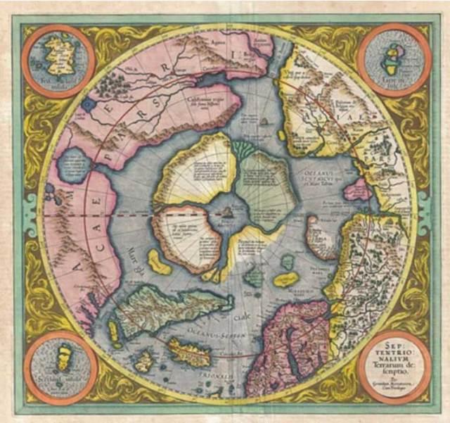 Mapa del Ártico, siglo XVI (Dominio público)