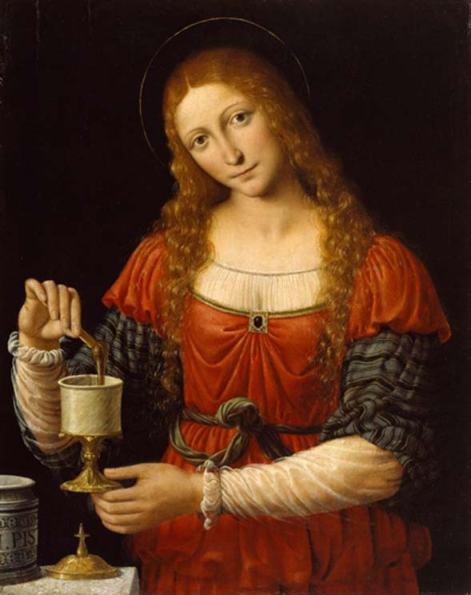 María Magdalena con el Frasco Sagrado, óleo del pintor italiano del siglo XV Andrea Solari. (The Commandery of Saint Michael)