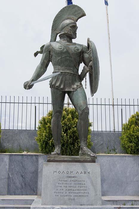 Estatua al rey Leónidas I en la Esparta moderna (CC BY-SA 3.0)