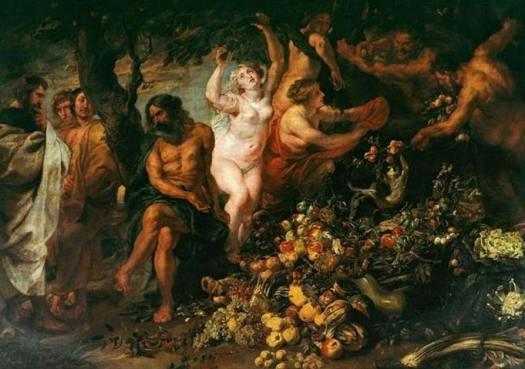 Pitágoras promovió el vegetarianismo. En la imagen, el óleo de Rubens y Snyders 'Pitágoras prohíbe comer animales y habas '. (Public Domain)