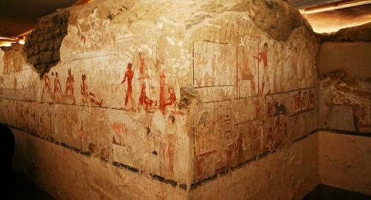 Pintura mural que se cree que representa a Hetpet en su tumba (Imagen: Ministerio de Antigüedades de Egipto)