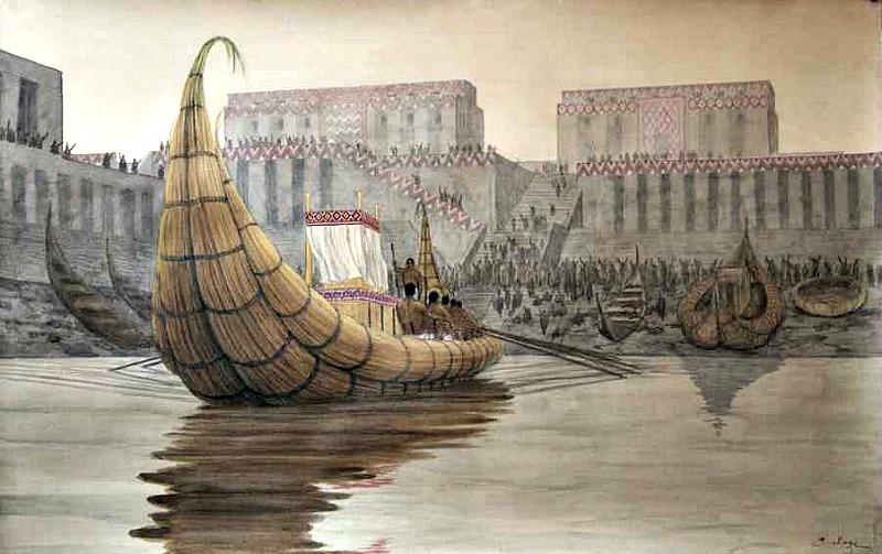 Recreación del puerto de Eridu (Public Domain)
