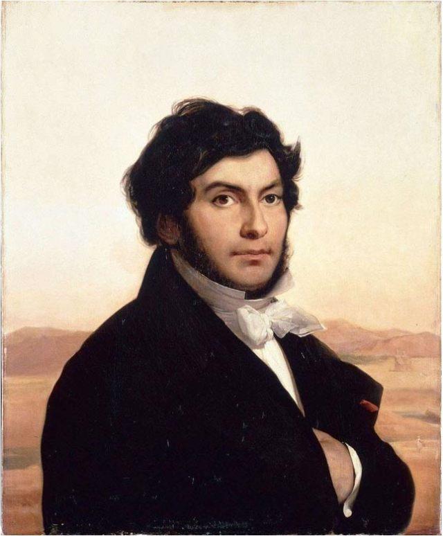 Retrato de Jean-François Champollion obra de Leon Cogniet (Wikimedia Commons)