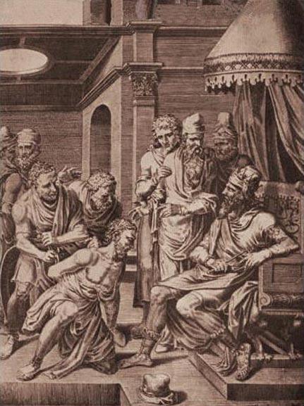 Siagrio es apresado y llevado ante Alarico II, quien da orden de entregarle a Clodoveo I. (Public Domain)