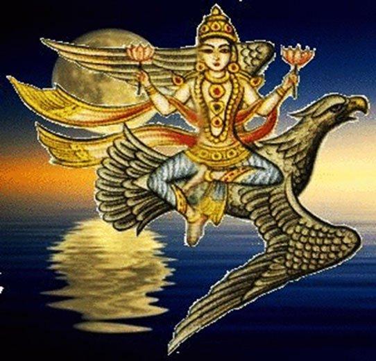 'Soma, dios hindú de la Luna.' (CC BY NC SA 2.0)