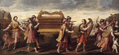 'El traslado del Arca con el rey David cantando y bailando.' (Public Domain)