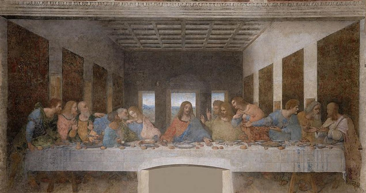 La Última Cena (1495-1498) de Leonardo da Vinci. Convento de Santa Maria delle Grazie, Milán. (Public Domain)