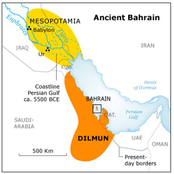 Mapa del antiguo Dilmún (Saudi Arabia Tourism Guide)