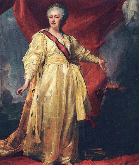 Catalina la Grande llegó al poder tras un golpe de estado que organizó, lo que resultó en el derrocamiento de su esposo, Pedro III. (Magnus Manske / Dominio público)