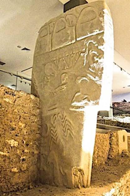 Copia del pilar 43 en el museo sanliurfa. (Imagen cortesía de Alistair Coombs, autor suministrada)