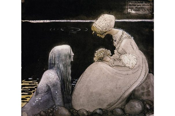 Portada - Agneta y el Rey del Mar, ilustración de John Bauer. (Melusina Mermaid)