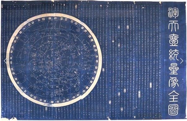 Portada-Calco del mapa estelar de Suchow (1826), grabado en piedra original realizado por Huang Shang (c. 1190), dinastía Song. (Public Domain)