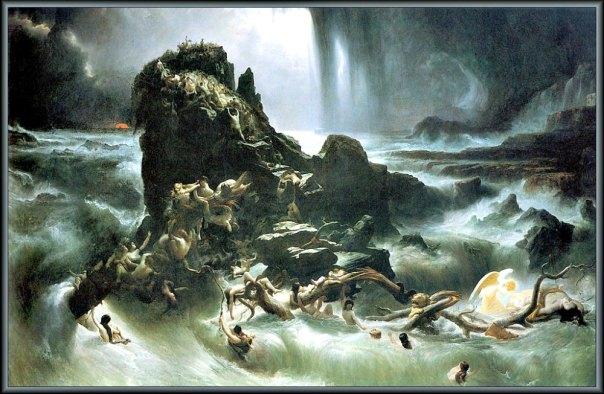 Portada-El Diluvio, óleo pintado entre los años 1837 y 1839 por el artista Francis Danby. (1793-1861). Tate Gallery. Londres, Inglaterra. (Public Domain)