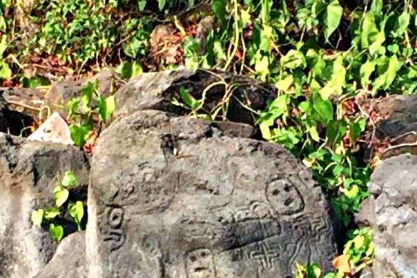 Portada - Algunos de los petroglifos hallados en Punta La Tijereta, cerca de la comarca San Ramón, en la isla de Ometepe. (Fotografía: La Prensa / Carlos Coronel Kinloch)