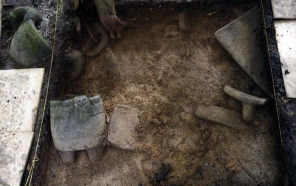Portada-Objetos recientemente descubiertos en las antiguas ruinas de Honduras que se cree que pertenecen a la legendaria 'Ciudad Blanca'. Fotografía: El Tiempo.