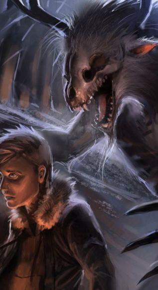 Ilustración de un Wendigo (creepypasta.wikia.com)