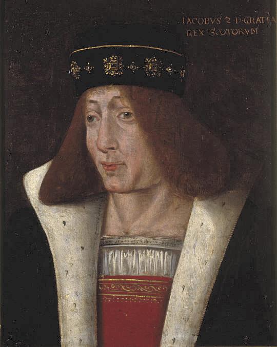 Jacobo II, rey de Escocia, responsable del asesinato del conde de Douglas en la Cena Negra de 1440 (Wikimedia Commons)
