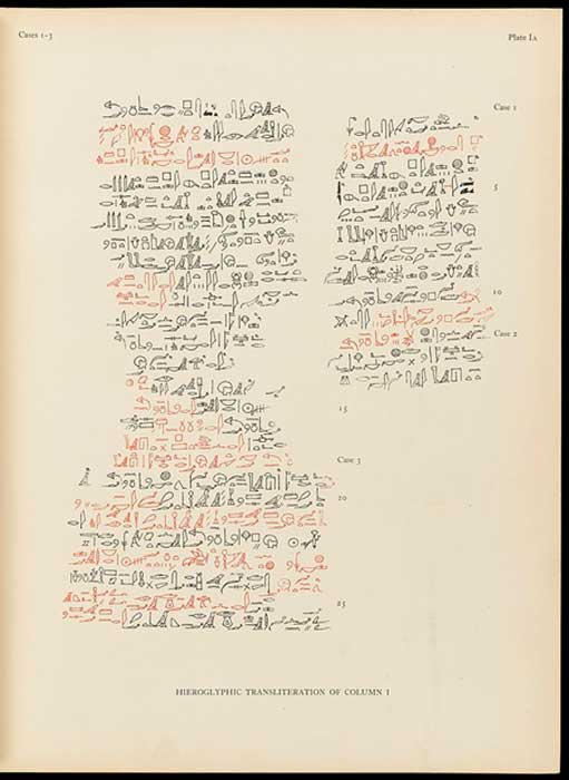 Los tratamientos en el papiro de Edwin Smith enumeraron los procedimientos paso a paso tomados en cada caso. (Fæ / / CC BY-SA 4.0)