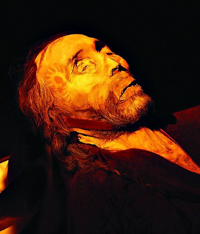 """Primer plano de la momia apodada """"el hombre de Cherchen"""". (Fotografía: La Gran Época)"""