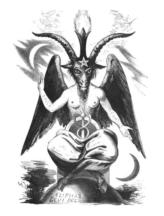 Baphomet, également connu sous le nom de la chèvre sabbatique, «Dogme et Rituel de la Haute Magie».  (Domaine public)