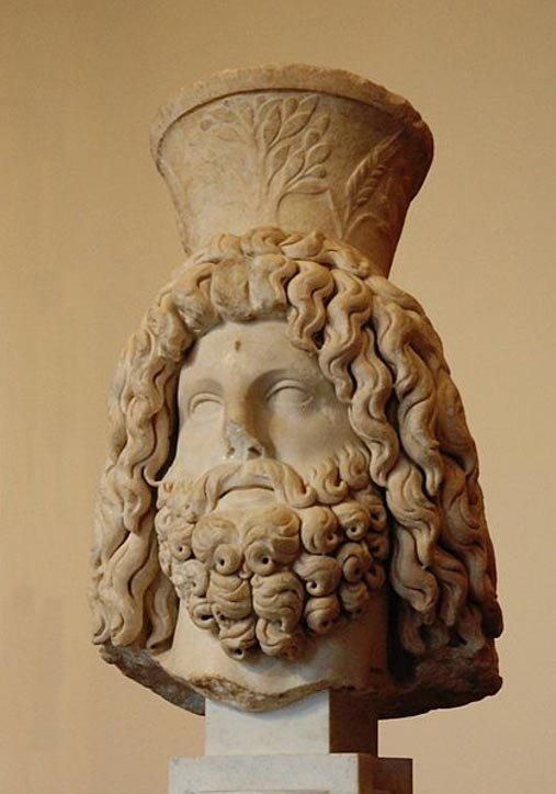 Bust of Serapis with a full beard (3rd Century AD)