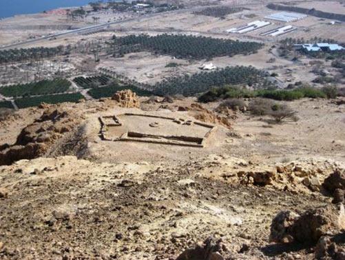 Chalcolithic Temple above modern Kibbutz Ein Gedi