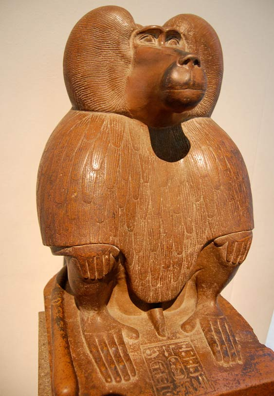 Depiction of Thoth as a baboon, circa1400 BC.