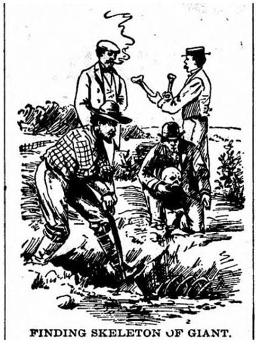 Figura 8: Ejemplo que muestra la excavación de un esqueleto gigante.