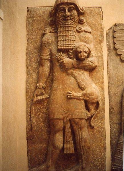 Gilgamesh in his lion-strangling mode.
