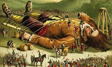 An illustration from Gulliver's Travels