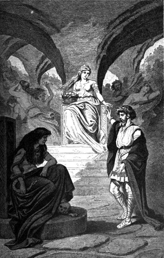 """""""Heimdallr désire le retour d'Iðunn des Enfers"""" (1881) de Carl Emil Doepler."""