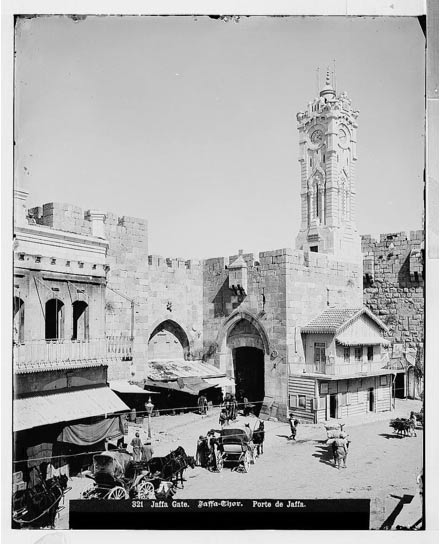 The clock tower at Jaffa Gate, (1908-1918)