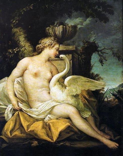 Leda and the Swan. Jean-Baptiste Marie Pierre