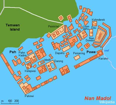 Nan Madol Map