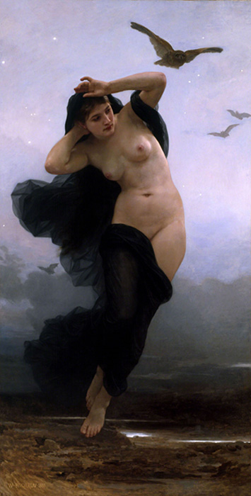 Nyx, The primordial goddess of the night.