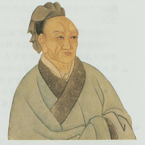 Painted portrait of historian Sima Qian