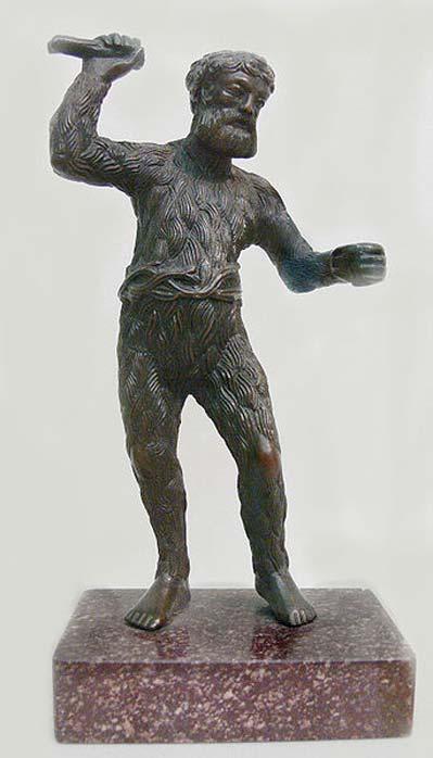 Paul Vischer (c.1998-1531): Wild Man, c. 1521/22, bronzo. Collezione Sculpture (inv. 8403, acquisita nel 1929), Bode Museum, Berlino.