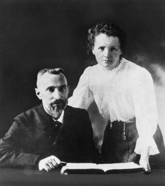 Pierre e Marie Curie, c.  1903.