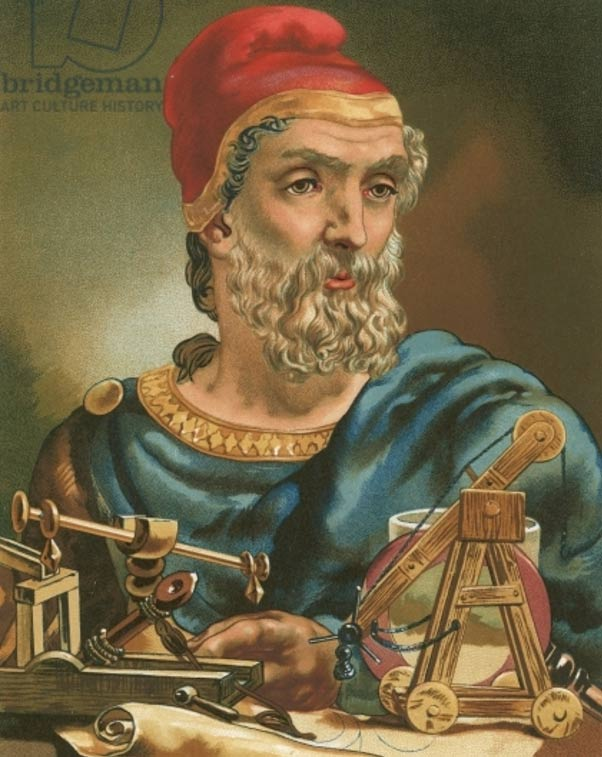 Portrait of Archimedes by Luis Figuier