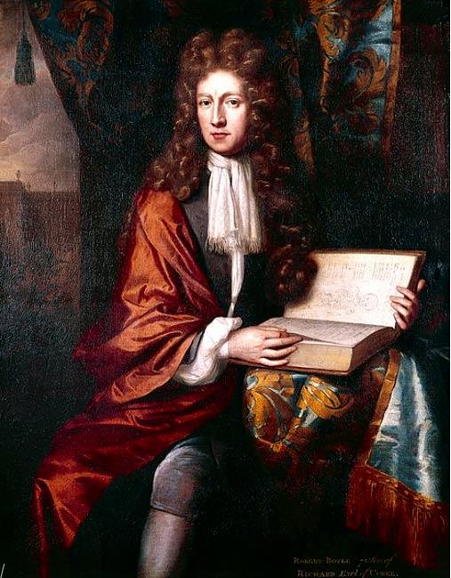 Portrait of Robert Boyle.